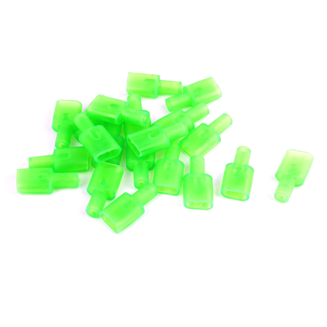 20 Pcs Green Connectors 7.8mm Female Terminal Sleeves for Motorbike Auto