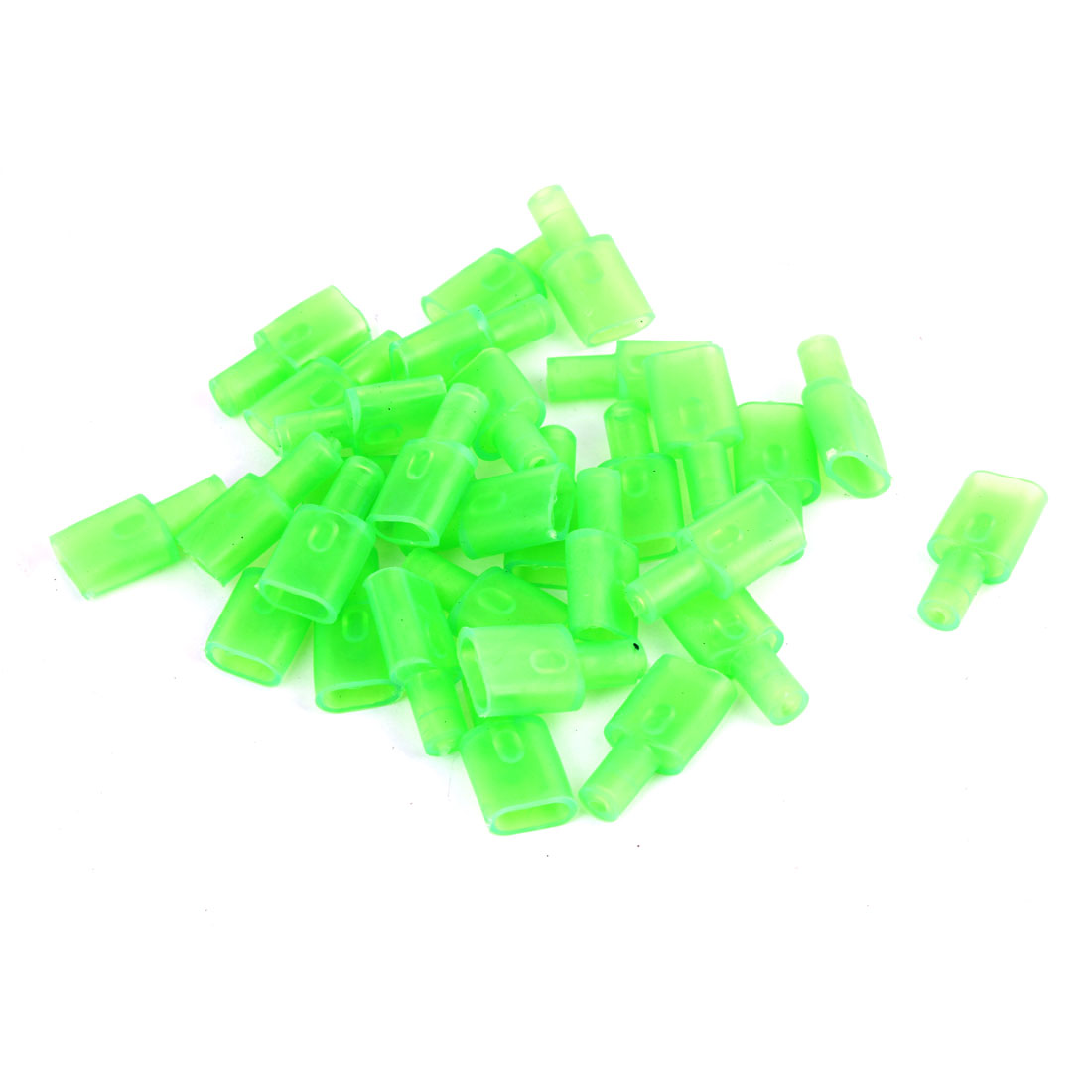 30 Pcs Green Soft PVC 7.8mm Wire Crimp Terminal End Insulated Sleeves Caps Cover