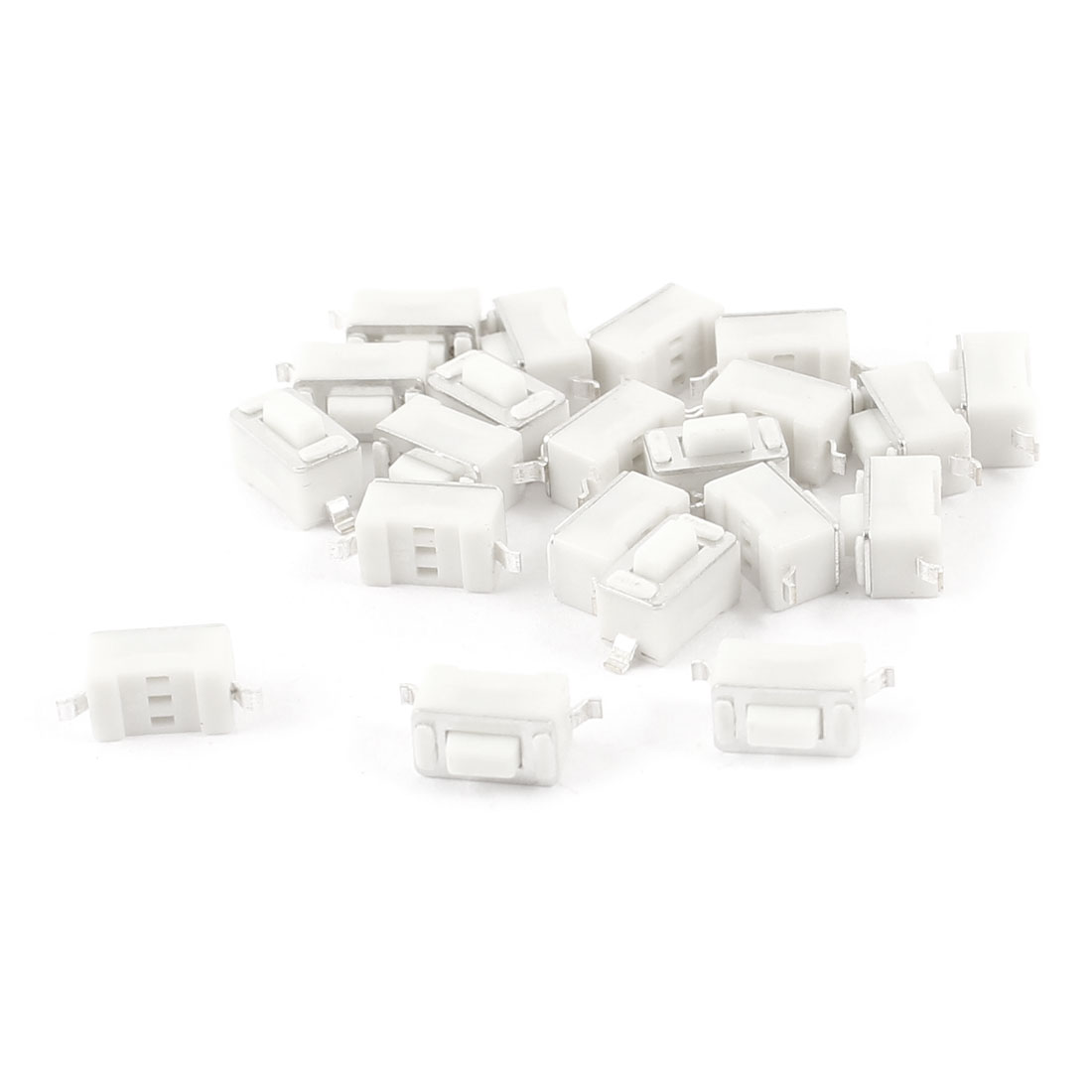 20pcs Momentary PCB SMT SMD Rectangle Push Button SPST Tactile Tact Switch White 6mmx3mmx4.3mm