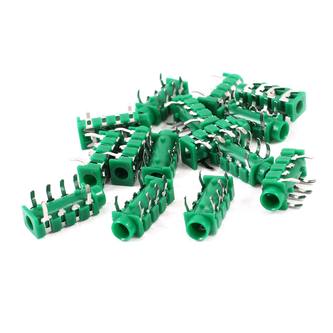15 Pcs DIP PCB Mounting 3.5mm Female 6 Pin Socket Stereo Connector