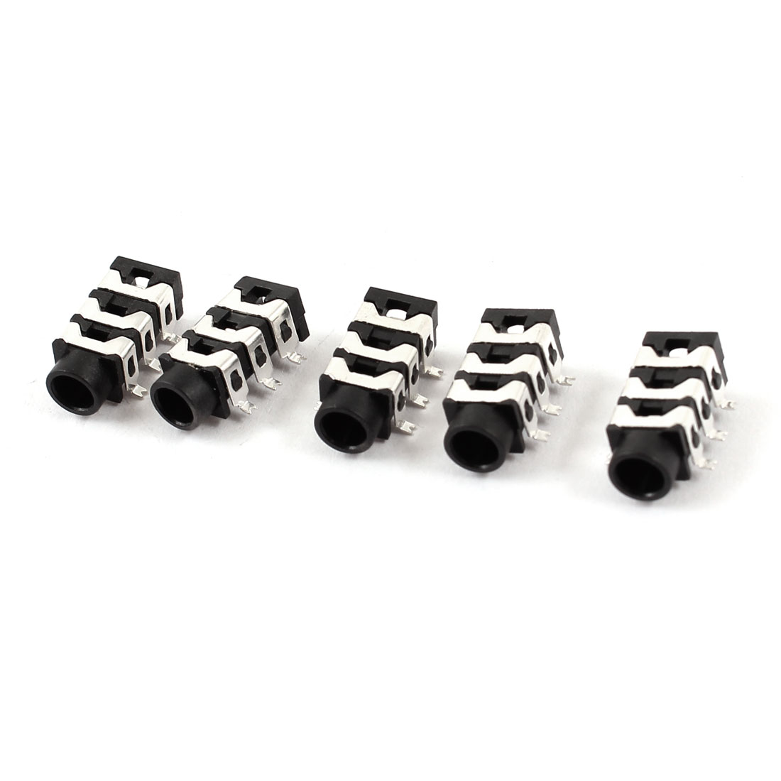 5 Pcs 6-Pin SMT SMD 3.5mm Stereo Earphone Jack Socket Connectors