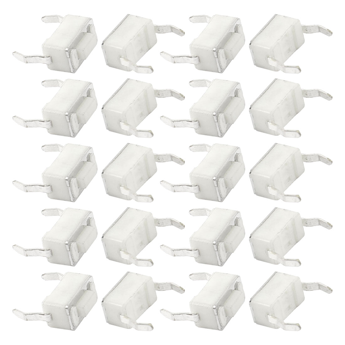 20 Pcs PCB Mount Momentary SPST Tactile Tact Switch White 6x3x4.3mm