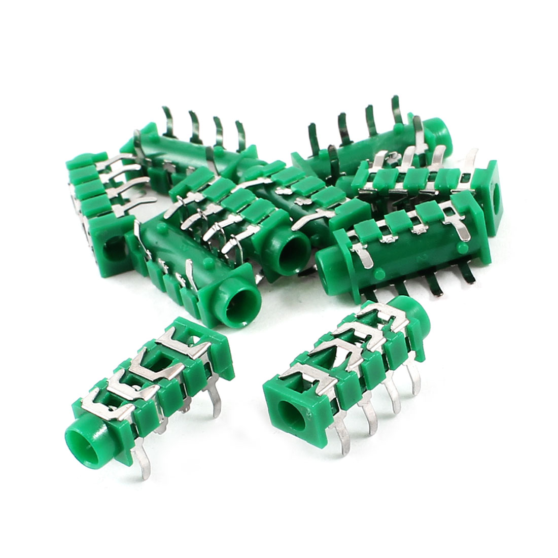 10 Pcs 6 Pin 3.5mm PCB Mounting Stereo Earphone Jack Socket Connector