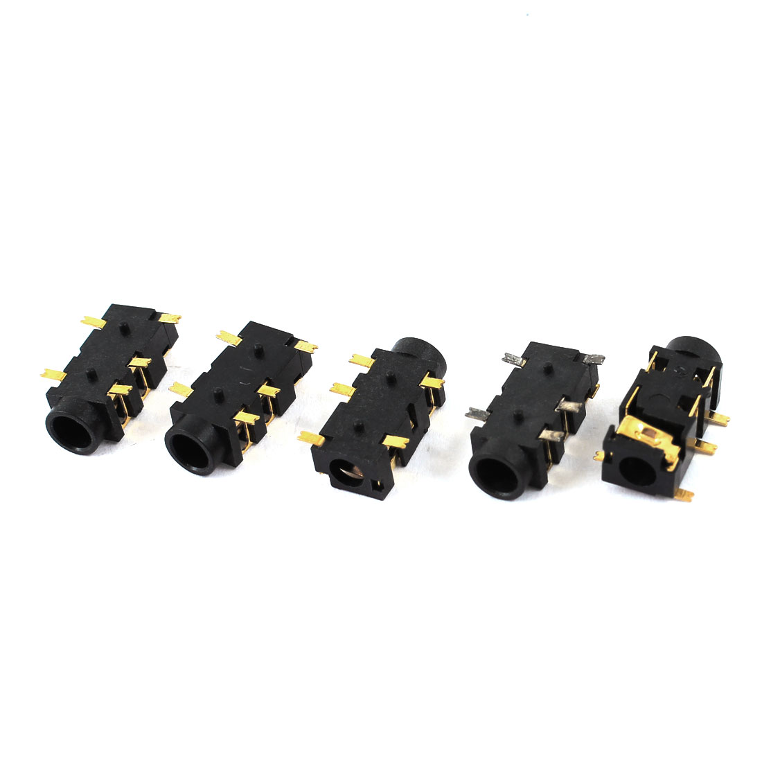 5 Pcs 3.5mm Female 5 Pins SMT SMD Stereo Jack Sockets Connectors Adapter