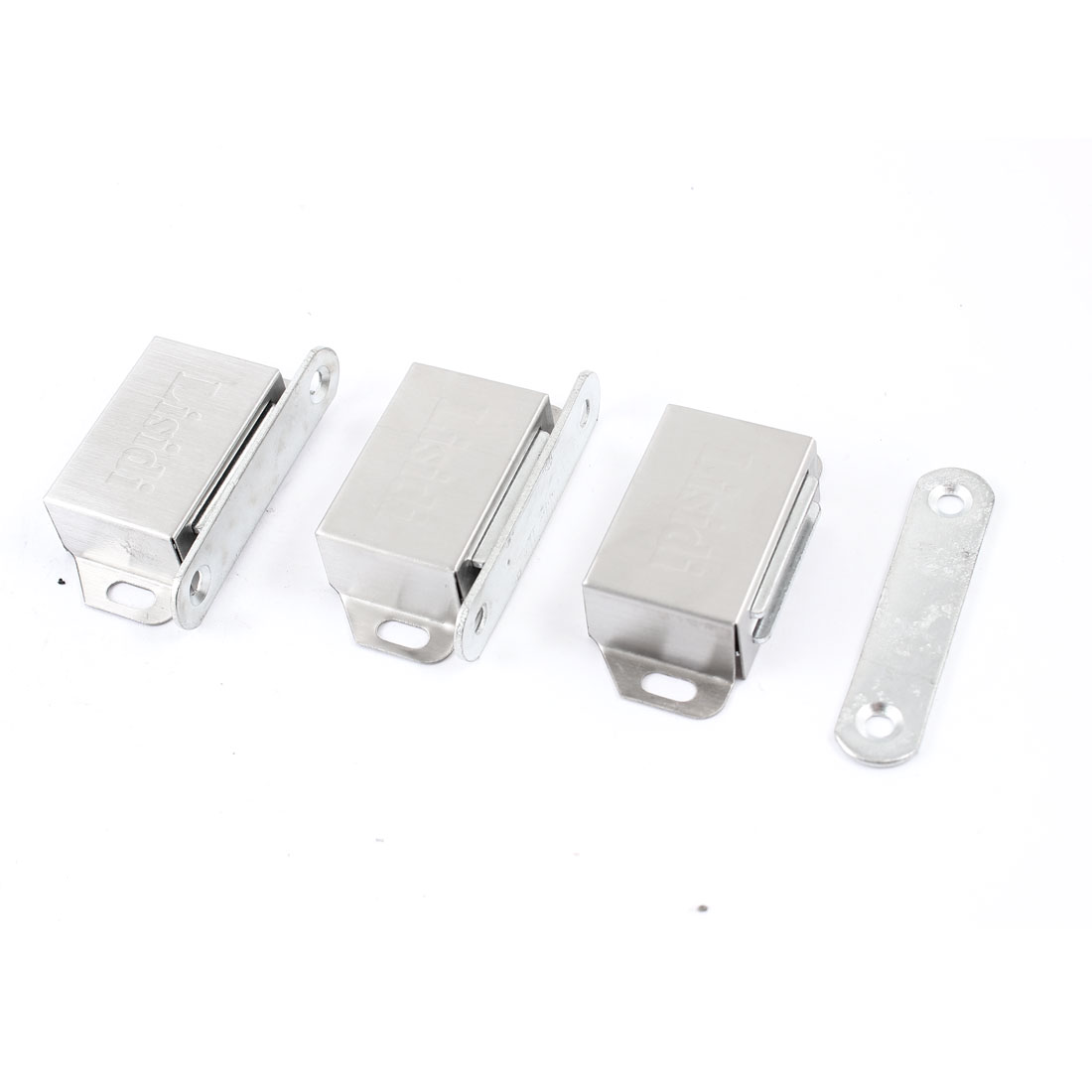 "3 Pcs Stainless Steel Cupboard Door Magnetic Catch Latch 2.2"" Length"