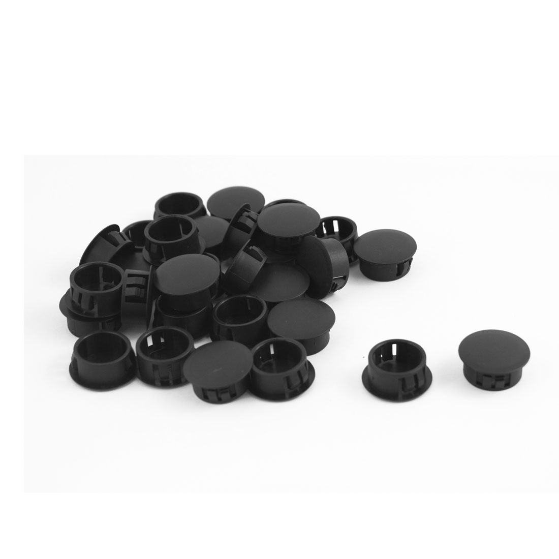 30 Pieces Black Snap in Mount Locking Hole Plugs 19mmx23mmx10mm