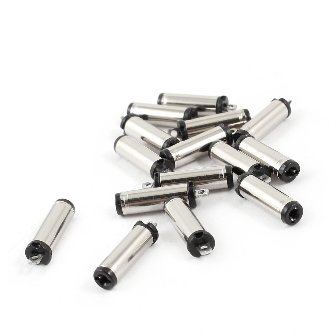 15pcs 5.5mm x 2.1mm x 21mm Power Supply Soldering Male DC Power Jack Connectors Adapter