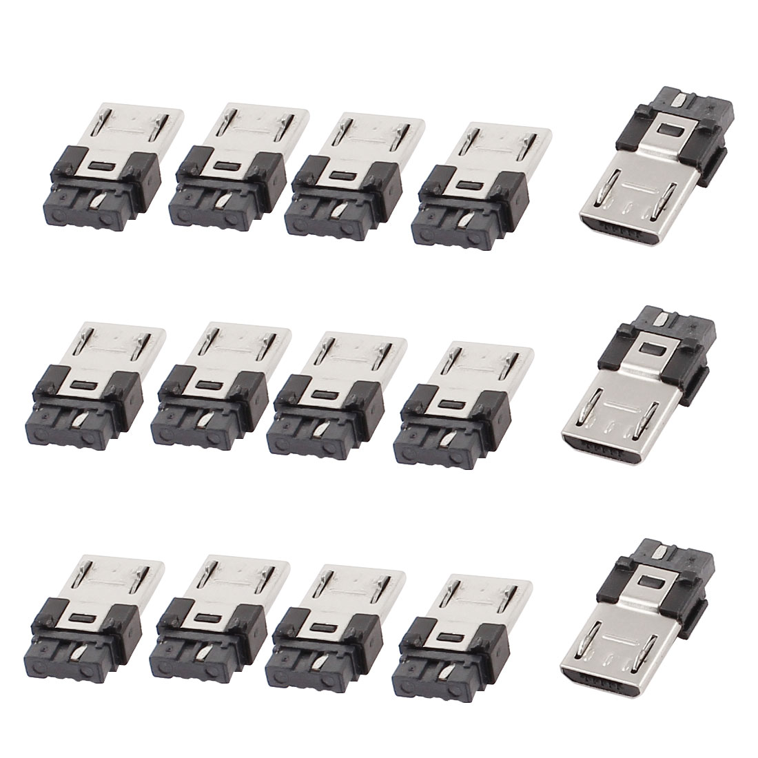 15pcs Micro USB B Type 5 Pin Male Soldering Jack Connector