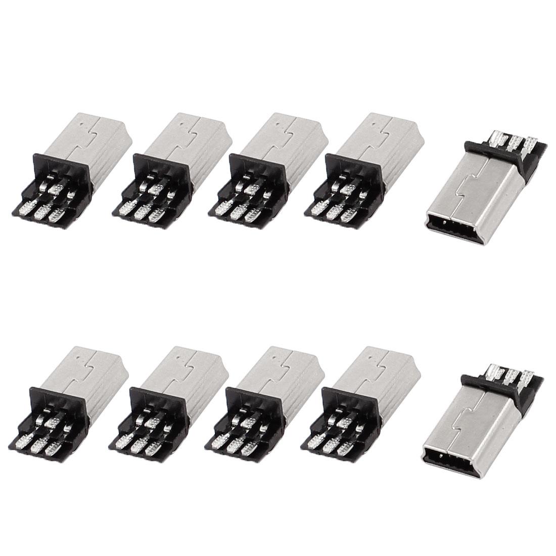 10 Pcs Mini USB 5Pin Type B Male Connector PCB Mount Solder Plug Jack