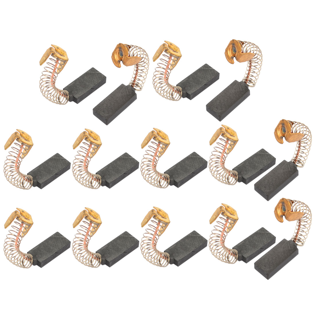 14 Pcs 17mm x 8mm x 4mm Electric Motor Carbon Brushes for Power Tool