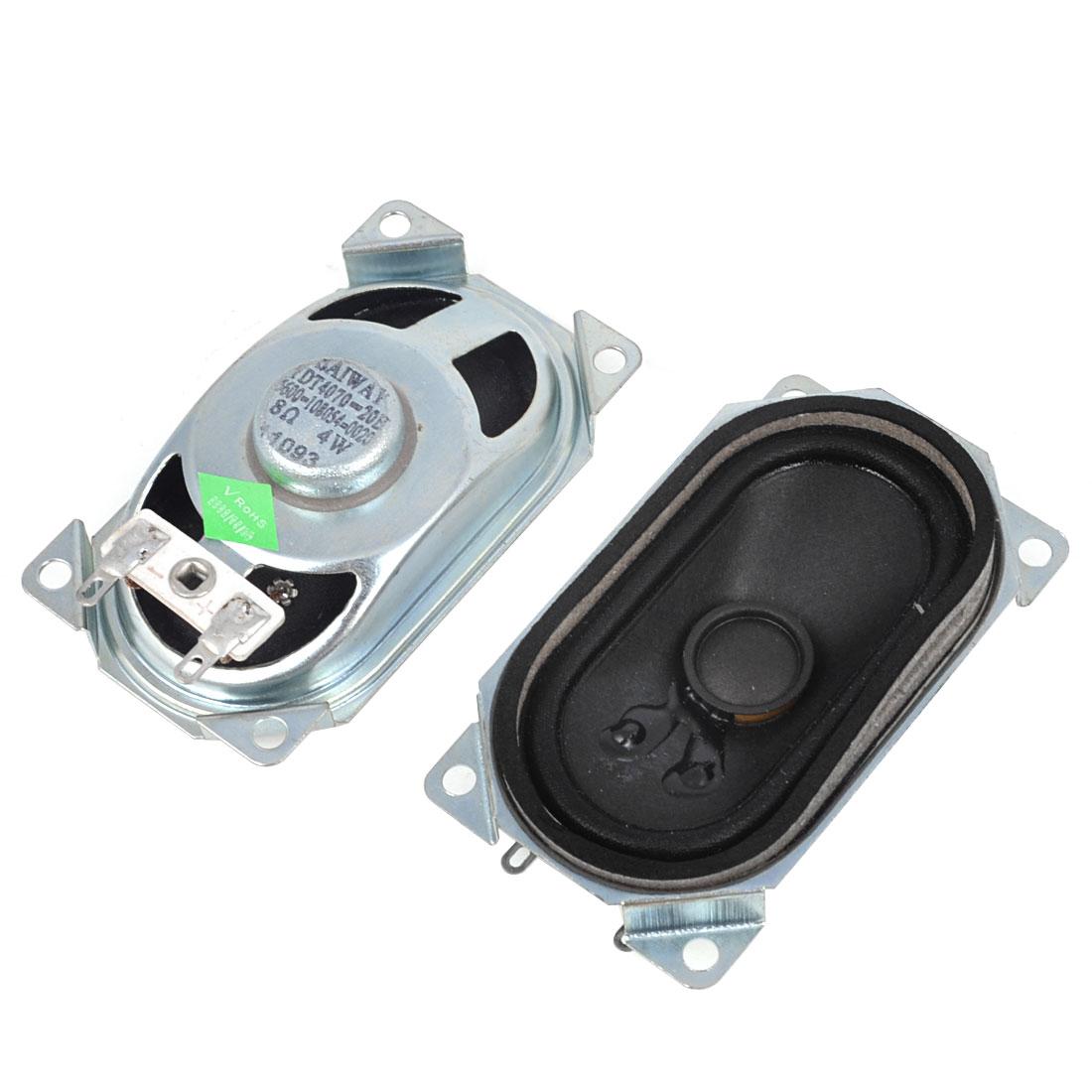 "2pcs 4W 8 Ohm 2.8"" x 1.7"" Aluminum Housing Rectangular Internal Magnet Speaker"