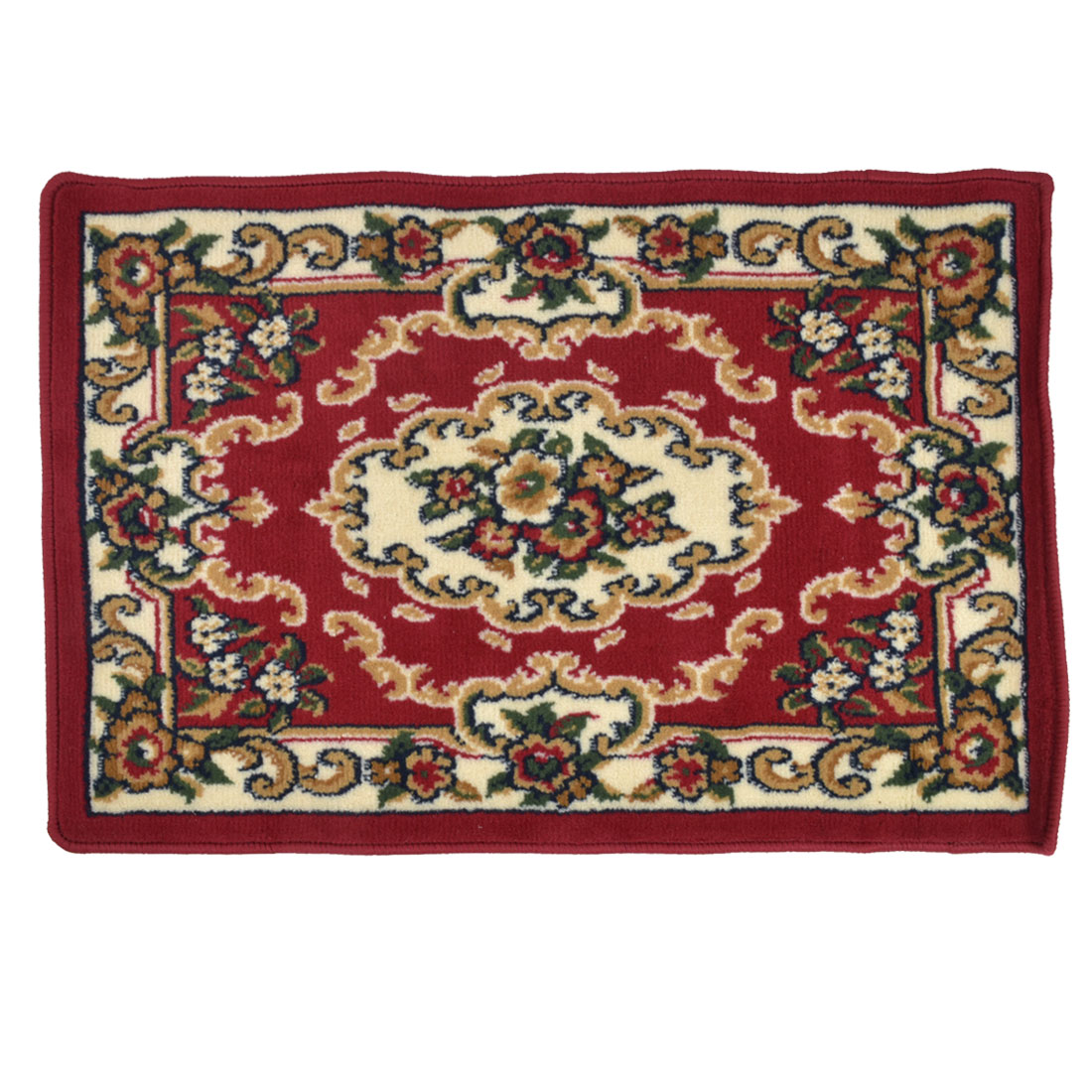 European Style Red Flower Pattern Living Room Area Rug Carpet 90cm x 60cm