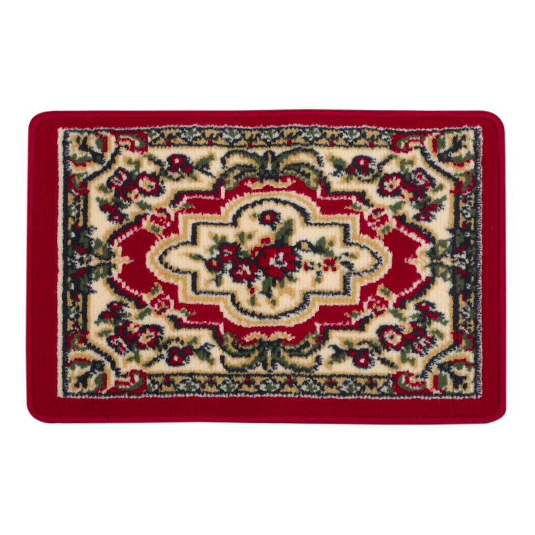 European Style Red Florals Pattern Living Room Area Rug Carpet 60cm x 40cm