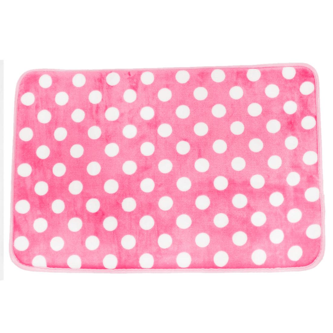 60cm x 40cm Pink Dots Pattern Nonslip Bedroom Floor Mat Area Rug Carpet