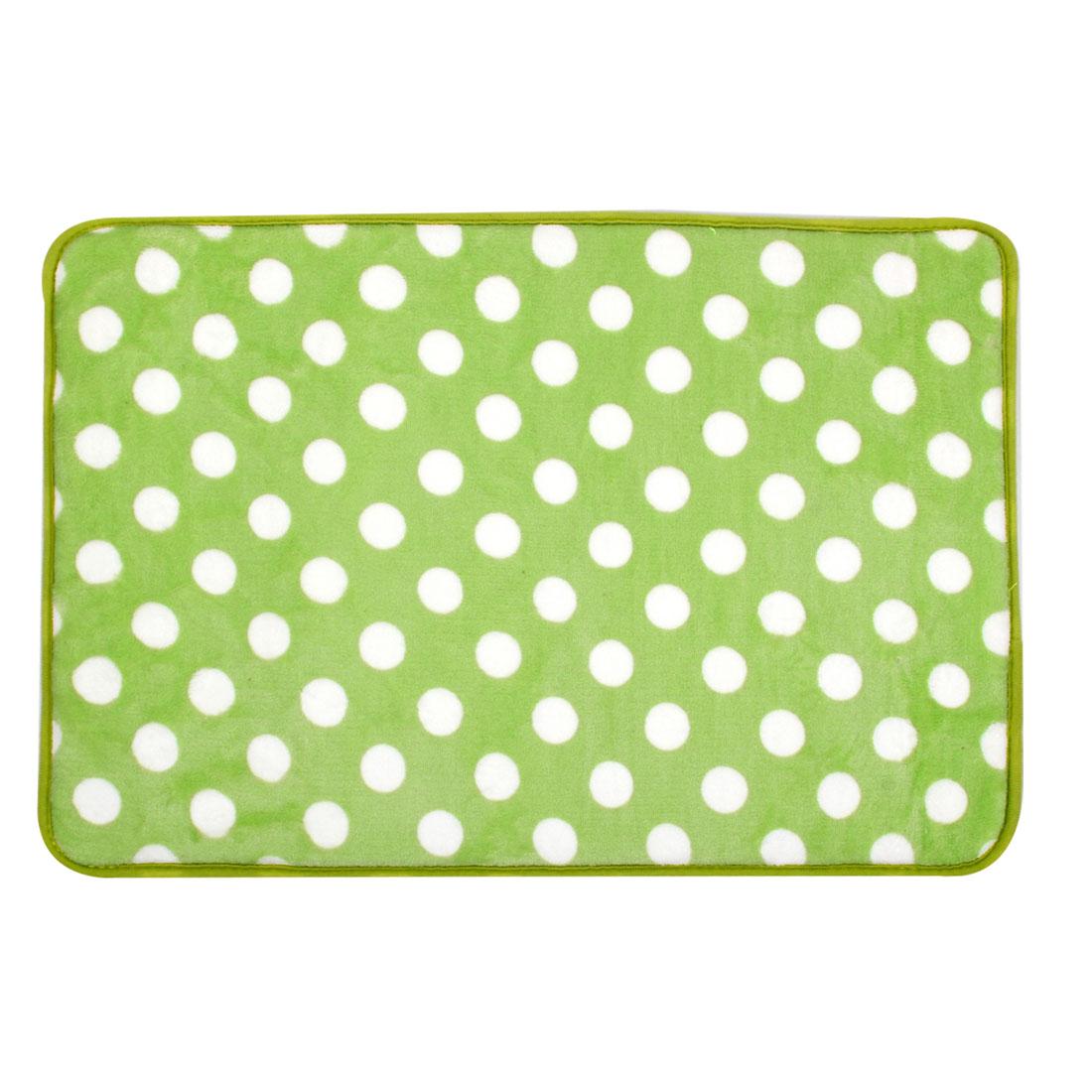60cm x 40cm Light Green Dots Print Nonslip Bedroom Floor Mat Area Rug Carpet