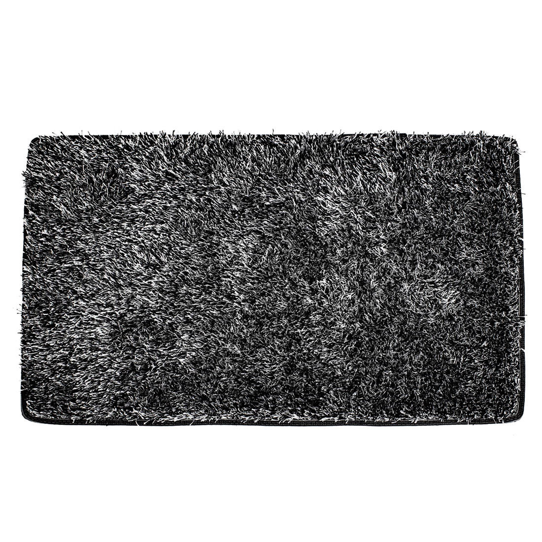 80cm x 50cm Black White Plush Sofa Floor Mat Tea Table Area Rug Carpet