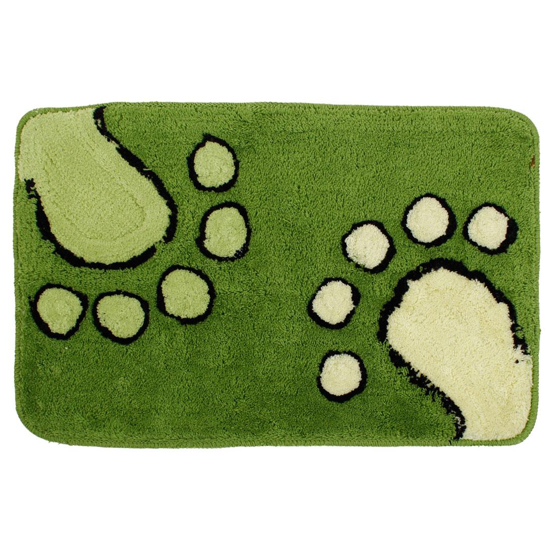 Green Footprints Kitchen Door Floor Mat Area Rug Carpet 60cm x 40cm