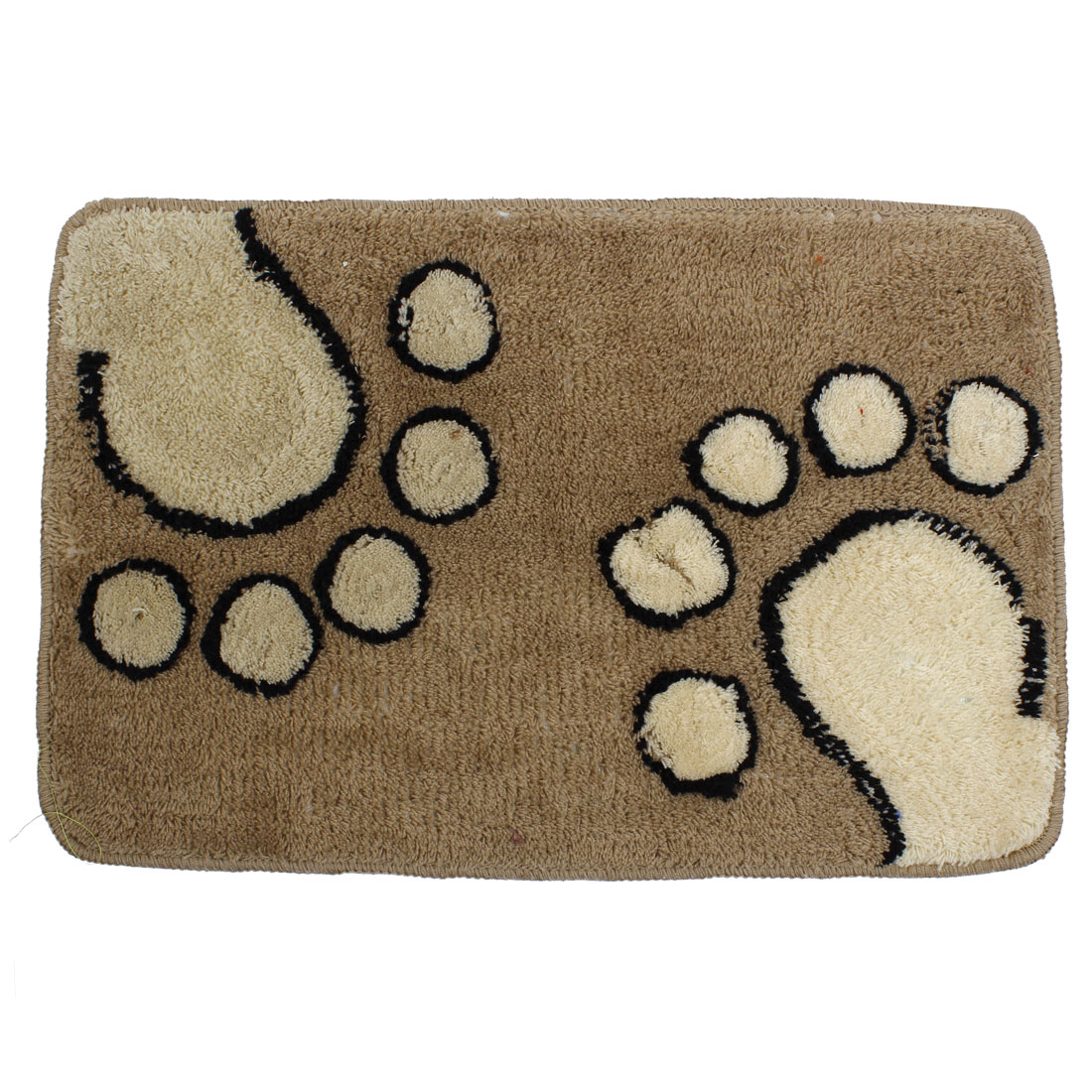 Light Brown Footprints Kitchen Floor Mat Area Rug Carpet 60cm x 40cm