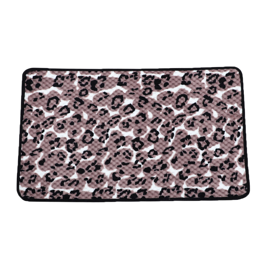 Rosy Brown Black Leopard Print Kitchen Floor Mat Area Rug Carpet 70cm x 45cm