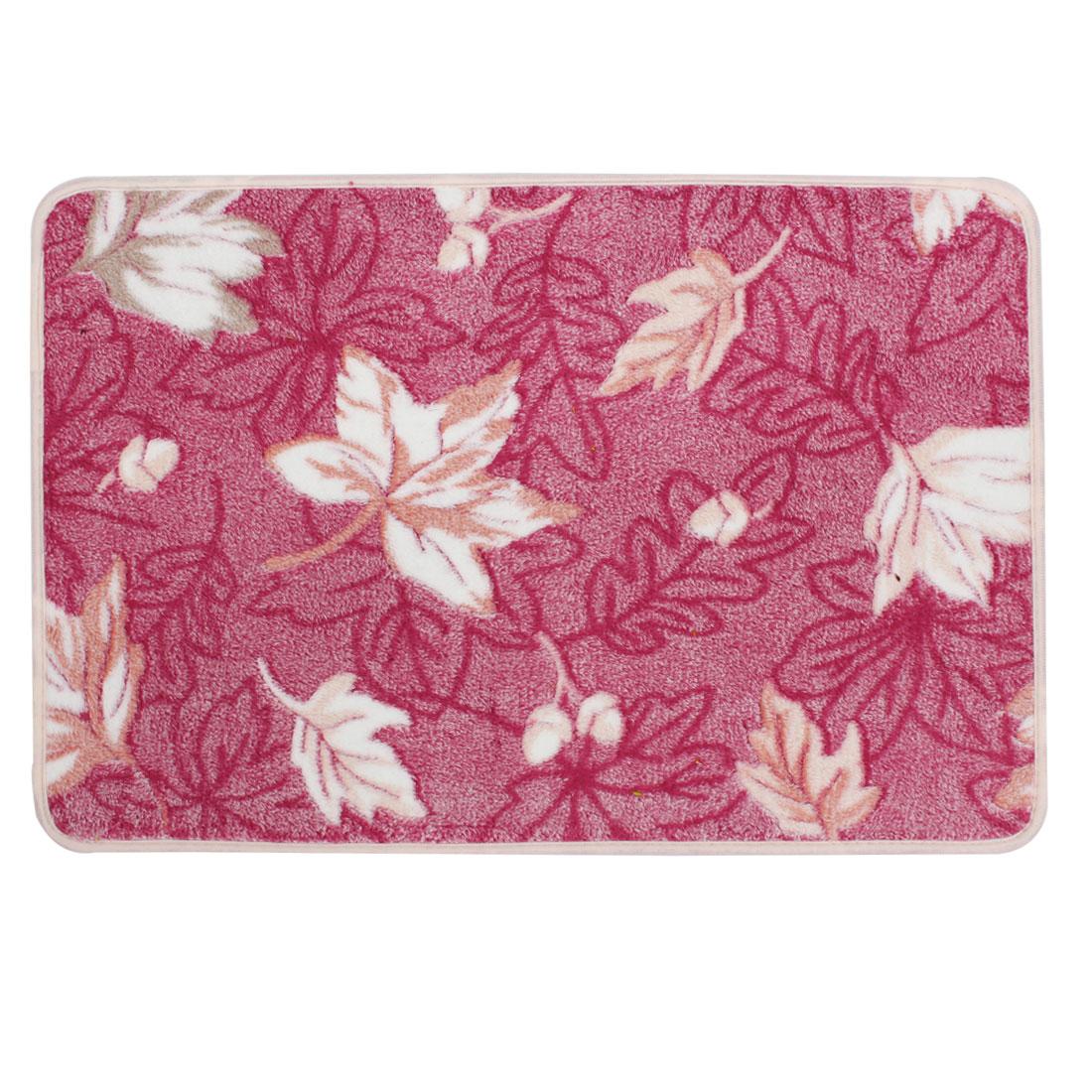 Red Maple Leaves Patetrn Bedroom Floor Mat Area Rug Carpet 60cm x 40cm