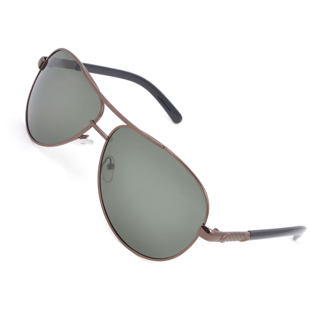 Gray Green Teardrop Lens Full Rimmed Leisure Polarized Sunglasses for Man