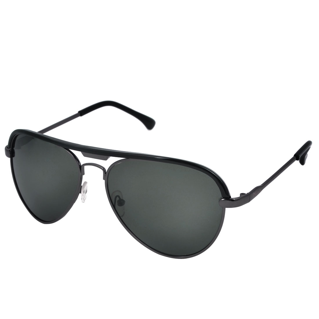 Black Full Rimmed Waterdrop Lens Leisure Polarized Sun Glasses for Man