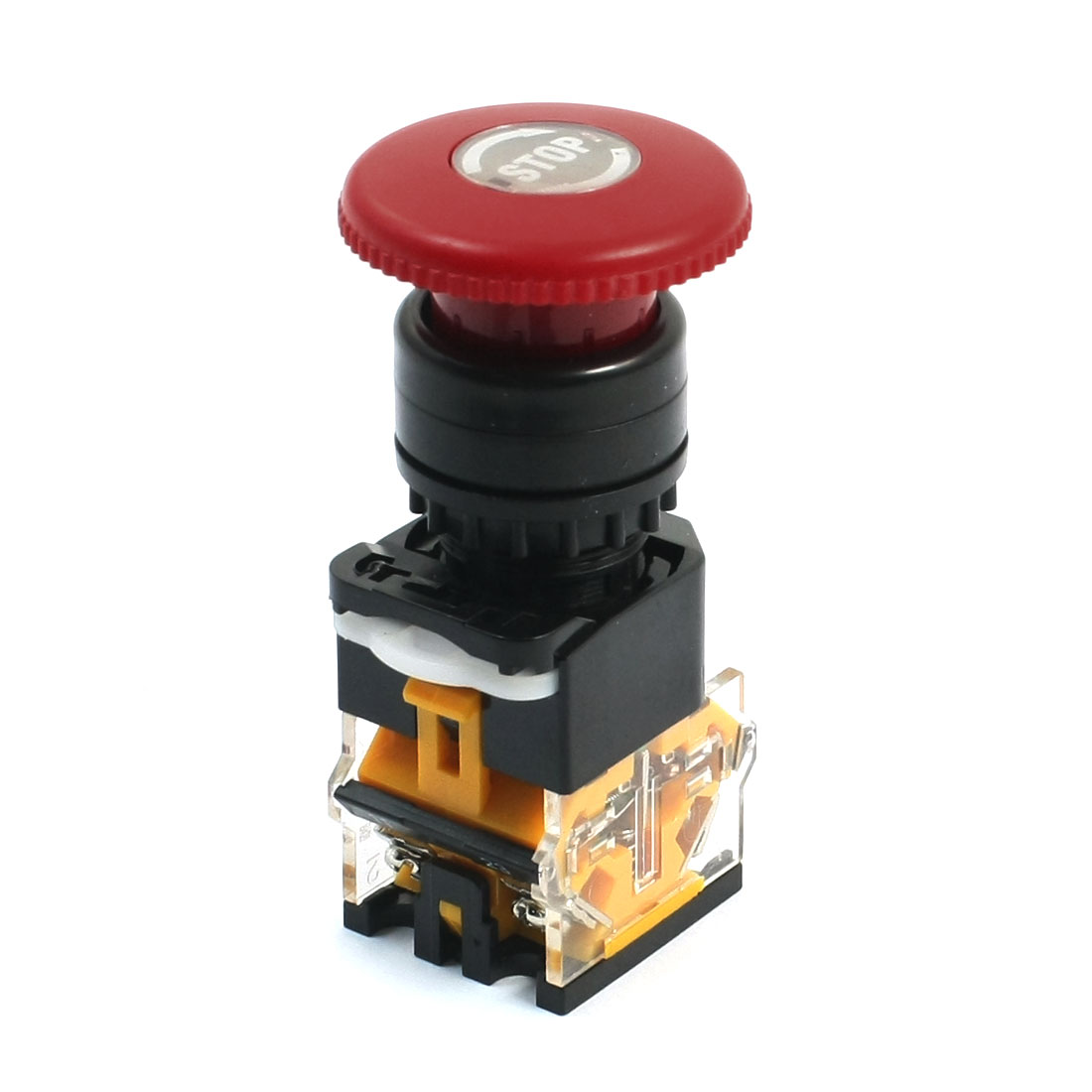 380V 10A DPST 1NO 1NC Circuit Control Self-Locking Mushroom Pushbutton Switch