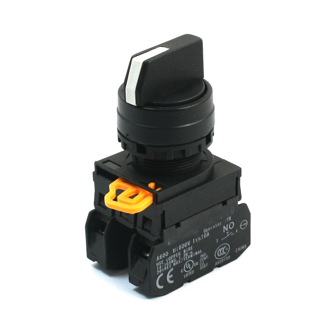 600V 10A 2NO 4 Screw Terminal 3 Position Selector Locking Rotary Switch