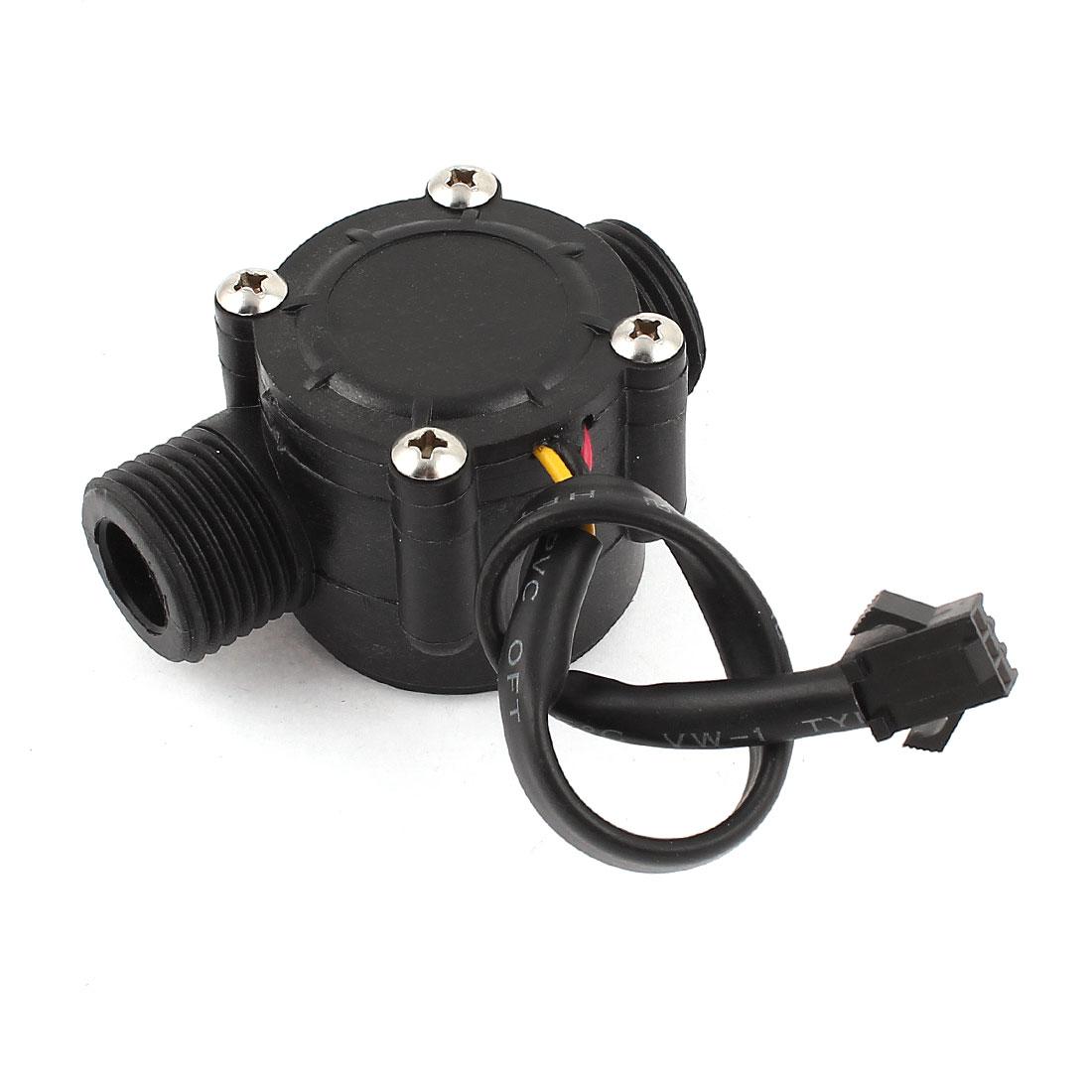 0.5-30L/min 0.8Mpa G1/2 Water Fluid Flow Control Hall Sensor Meter Flowmeter