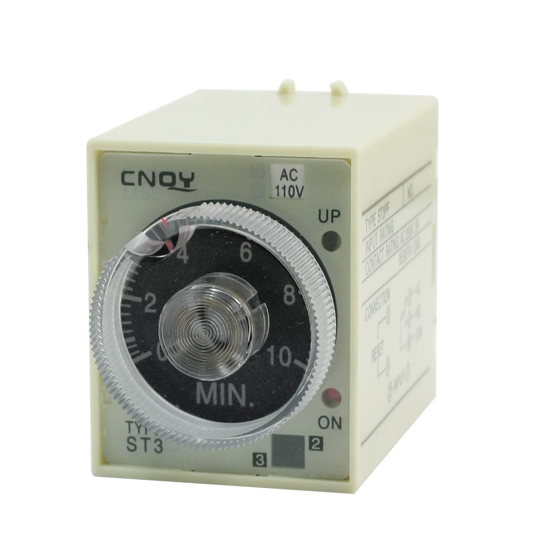 ST3 Model AC 110V 1NO 1NC 0-10Min 10Minute Delay Power on Timer Time Relay