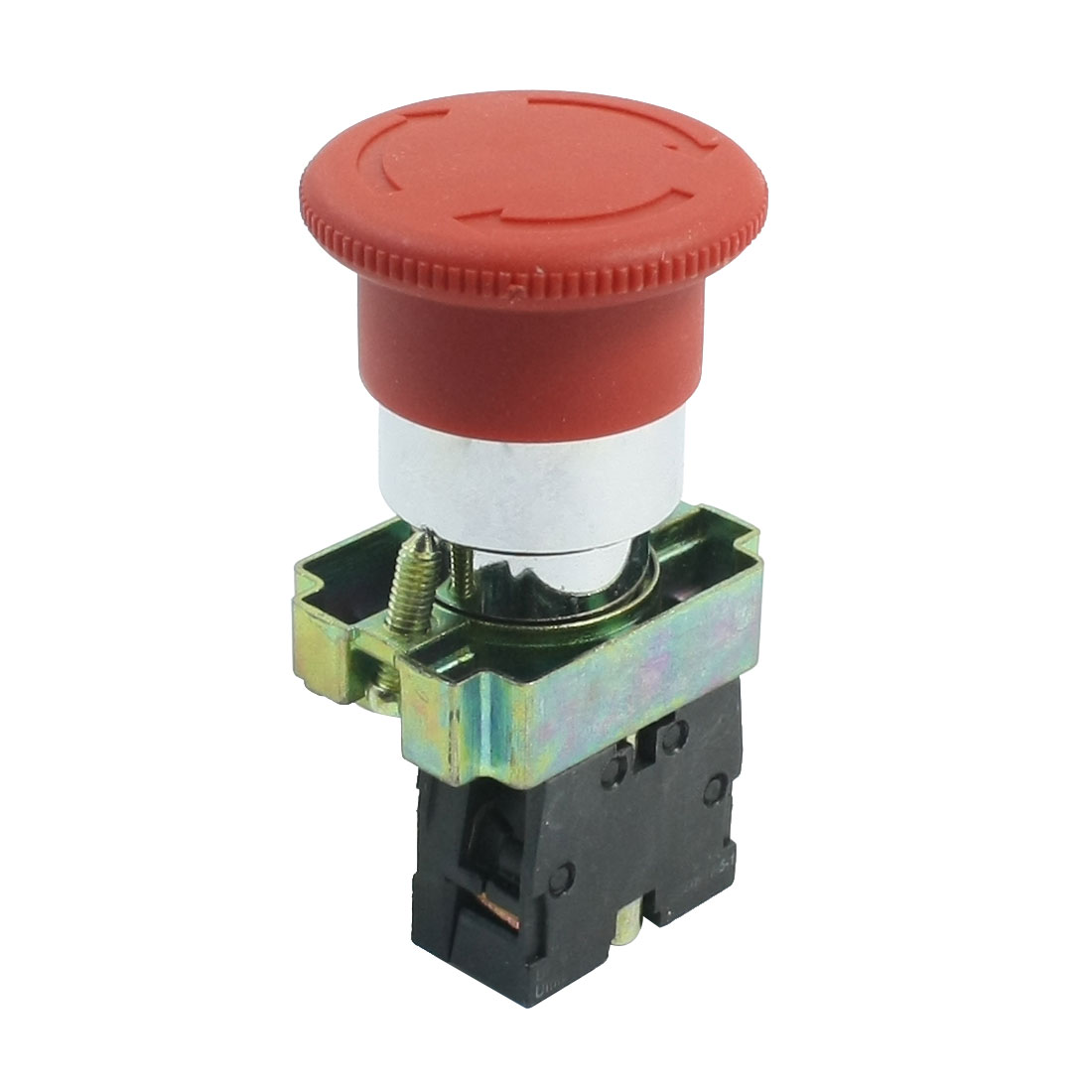 AC 240V 3A SPST 1NC Power Control Self-Locking Mushroom Pushbutton Switch