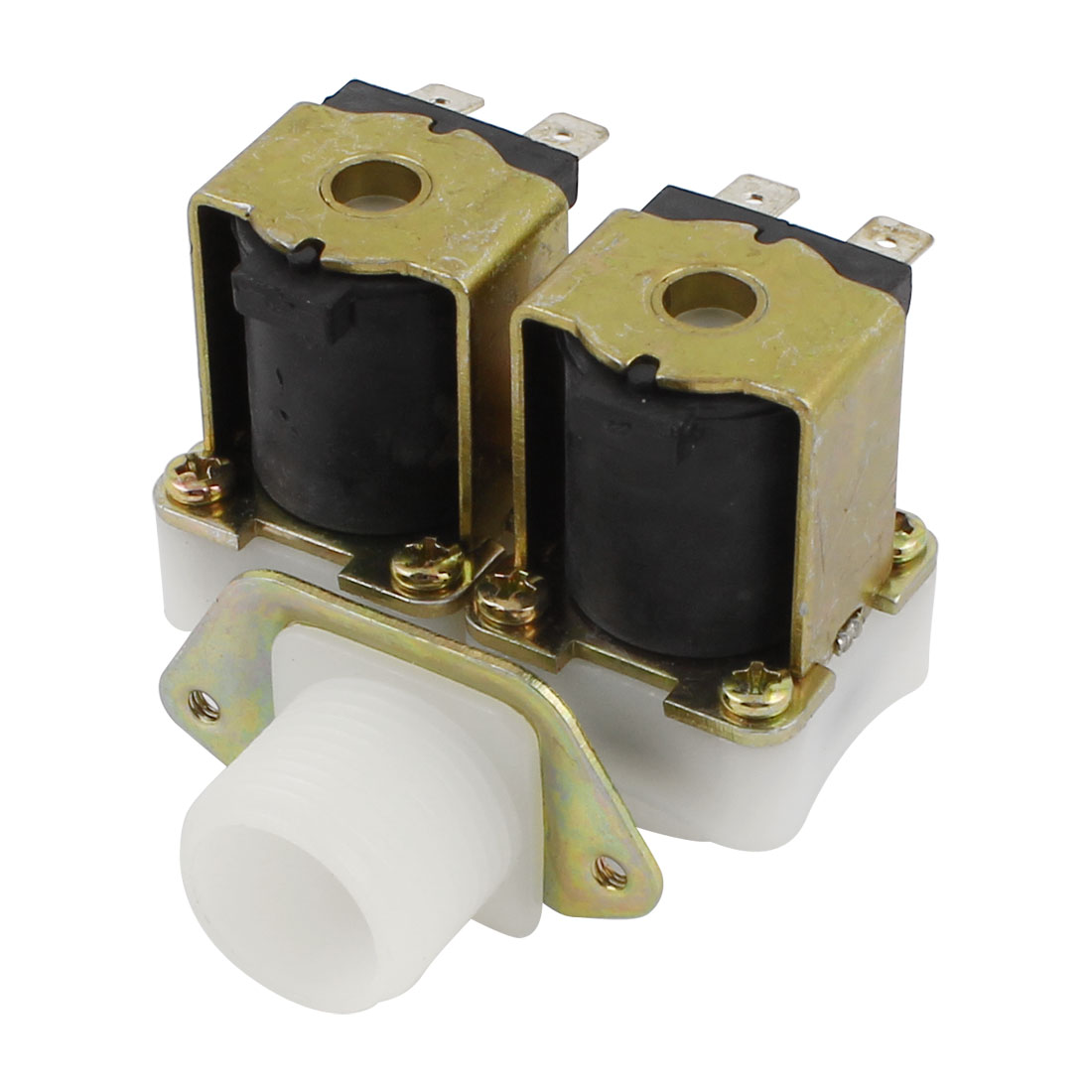 G3/4 1 Inlet 2 Outlet Water Solenoid Valve DC 12V NC for Washer Washing Machine