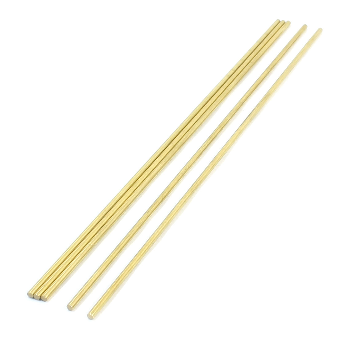 5Pcs Gold Tone Brass 250mm x 3mm Round Rod Stock for CNC Lathe Machine