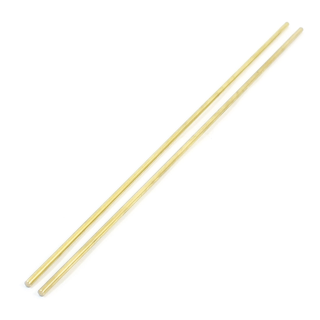 2Pcs Gold Tone Brass 250mm x 3mm Round Rod Stock for CNC Lathe Machine