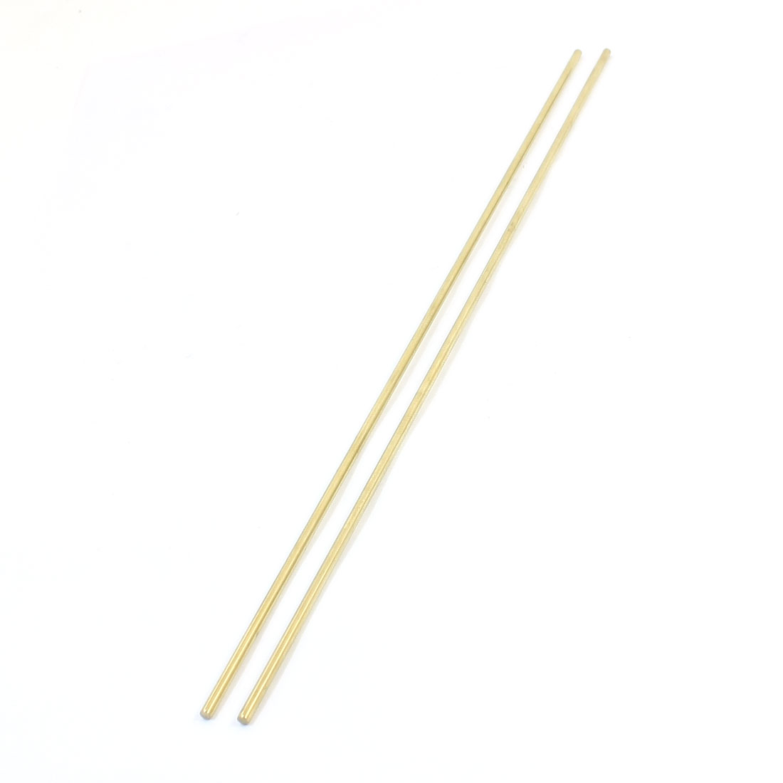 RC Model Airplane 300mm Length 3mm Dia Brass Axle Round Stock Rod Bar 2Pcs