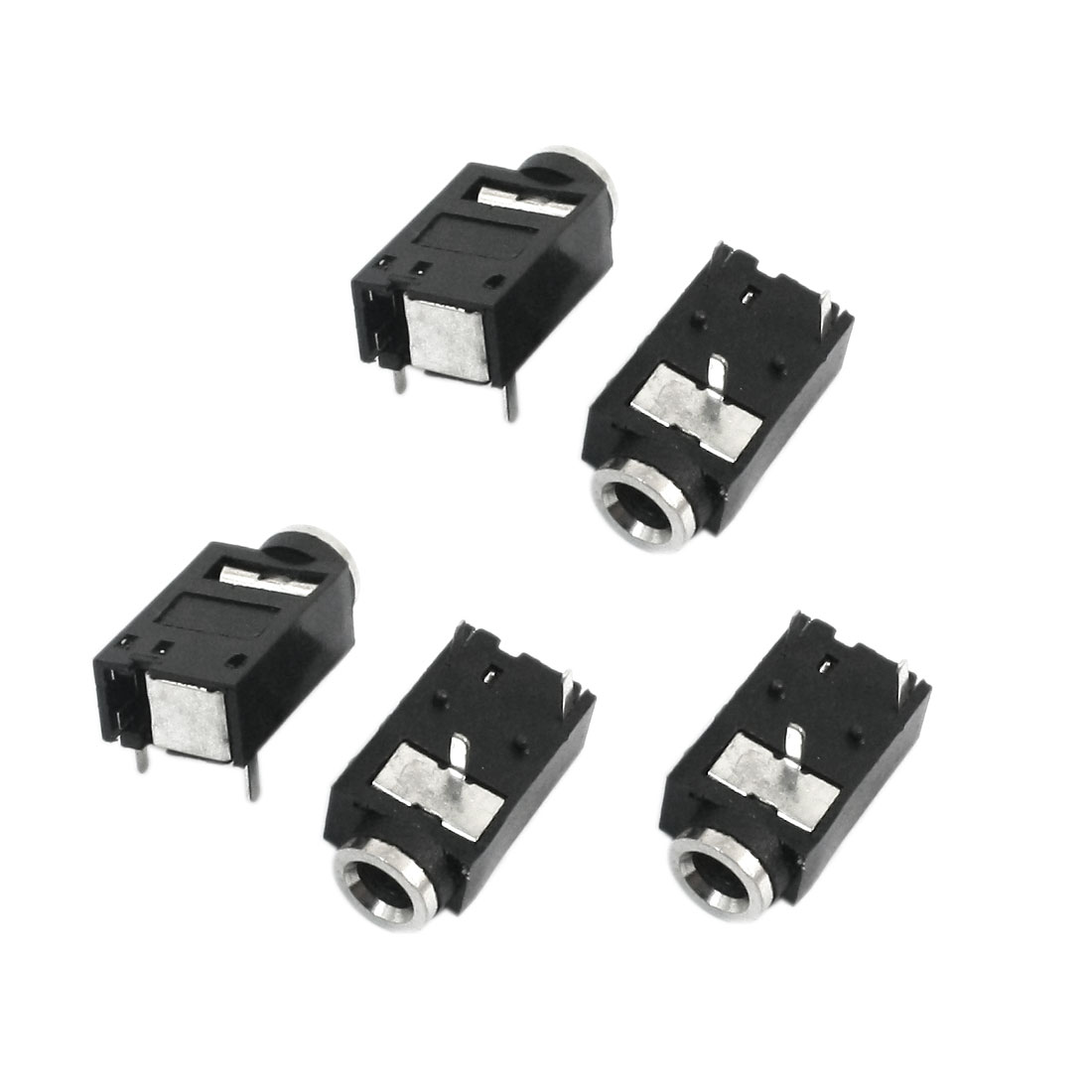 5Pcs 3 Pin 3.5mm Female Audio Stereo Jacks Socket for Headphone Earphone