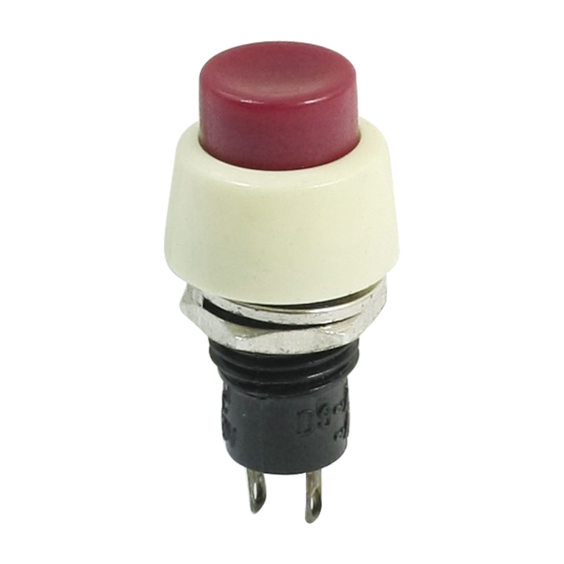 10mm Panel Mounted AC 250V 2A SPST Momentary Push Button Switch Red