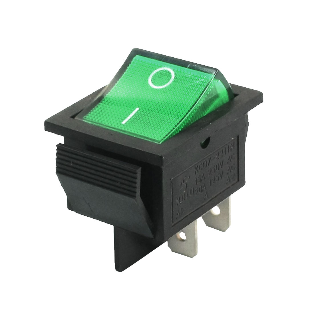 Electric DPST ON-OFF 2Position Green Lamp Boat Rocker Switch AC 125V 20A