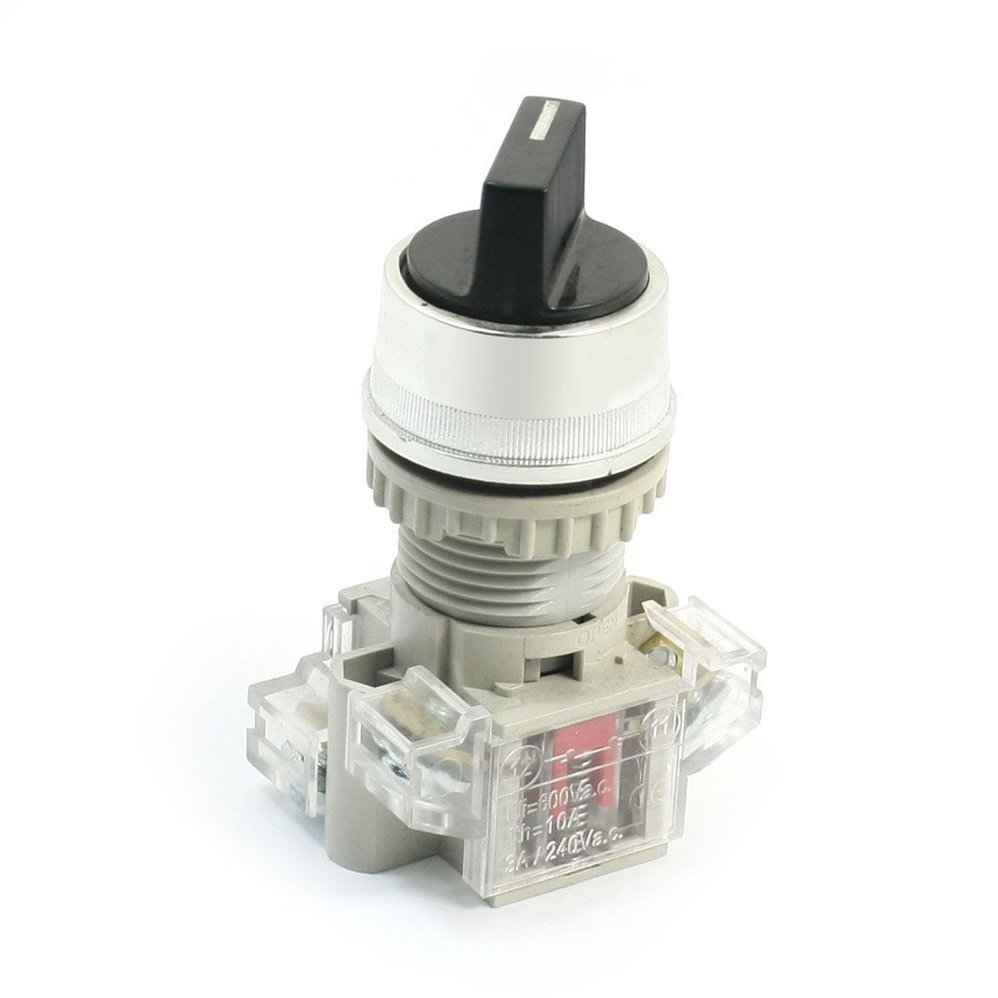 AC 240V 3A 1NO+NC 4 Screw Terminal 2 Position Selector Locking Rotary Switch