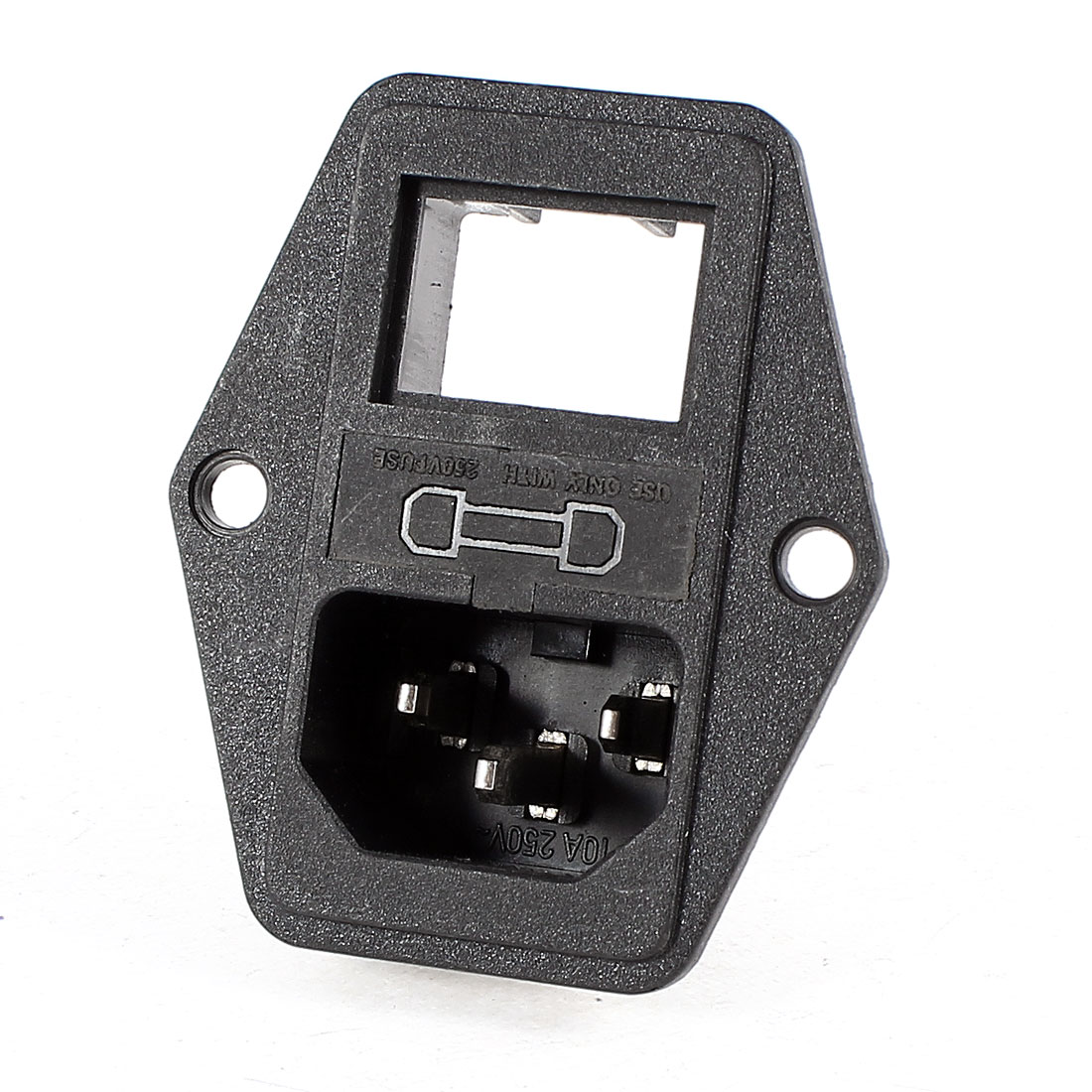 AC 250V IEC320 C14 Power Socket Fuse Holder w Switch for Electric Rice Cooker