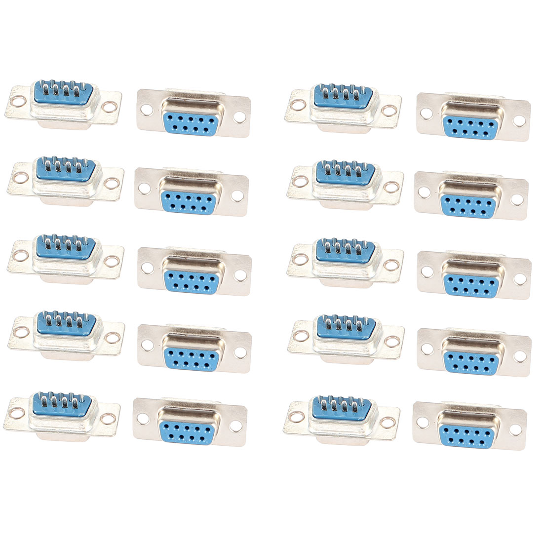 20 PCS Solder Type DB9 9 Pins Female PC Converter Cable Plug Connector