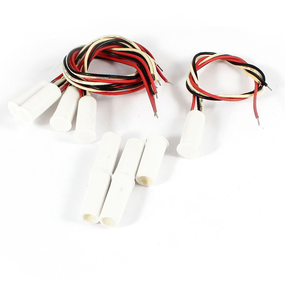 Normally Open Normally Closed Wired Magnetic Door Contact Sensor Switch 5 Pieces