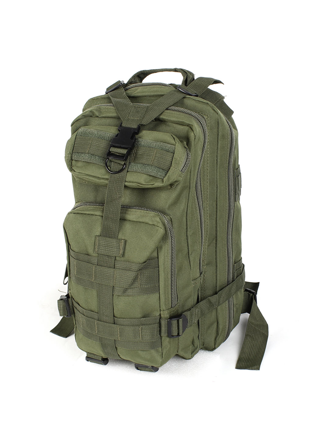 Unisex Military Tactical Rucksack Oxford Cloth Bag Camping Backpack Olive Green