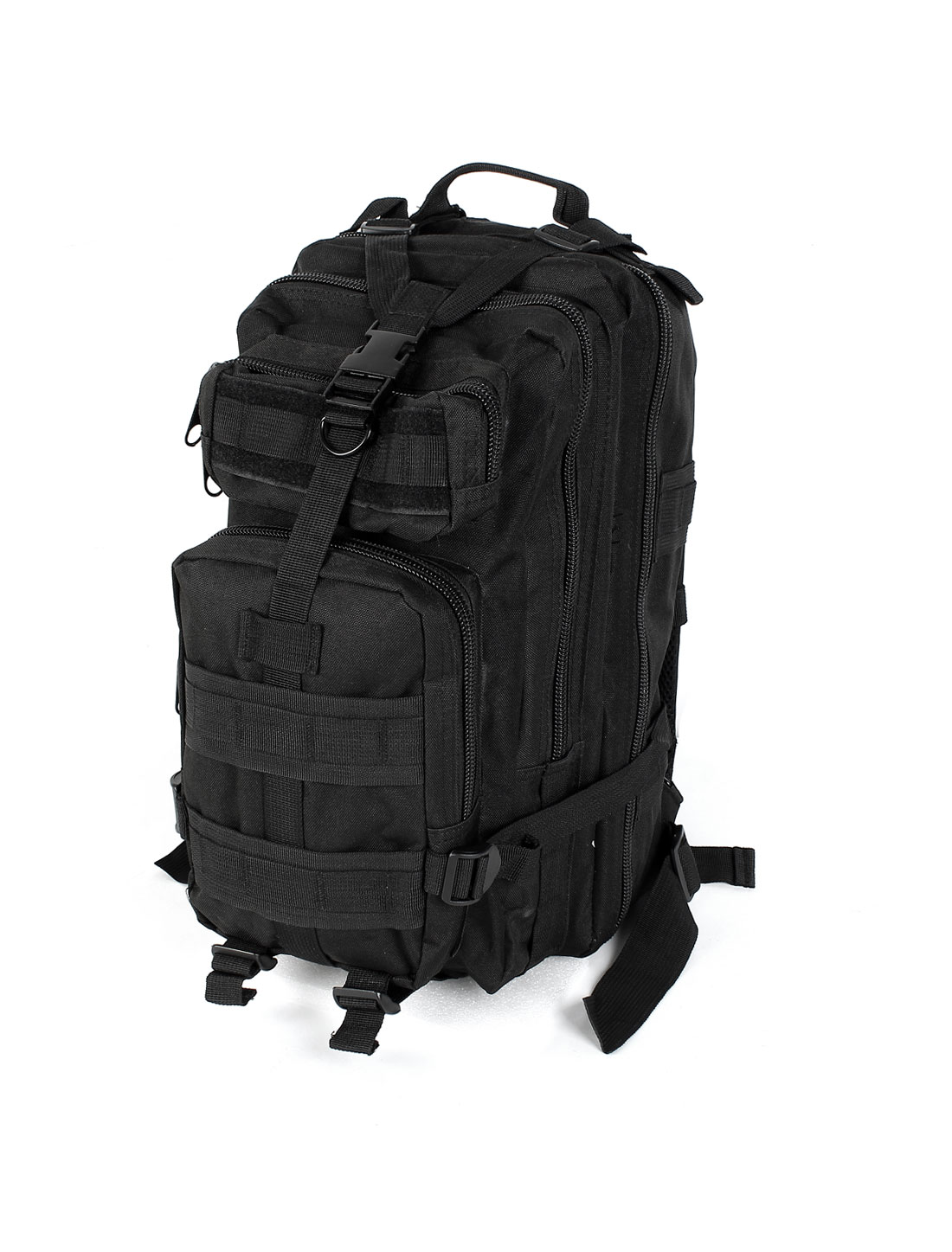 Military Tactical Rucksack Oxford Cloth Bag Outdoor Hiking Travel Backpack Black