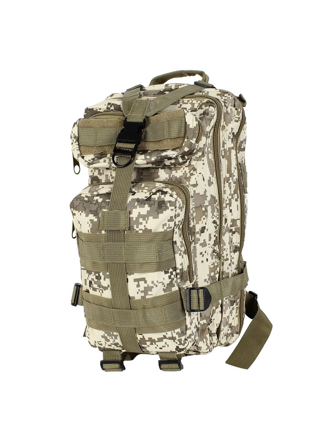 Military Tactical Rucksack Oxford Cloth Bag Hiking Backpack Army Green Beige