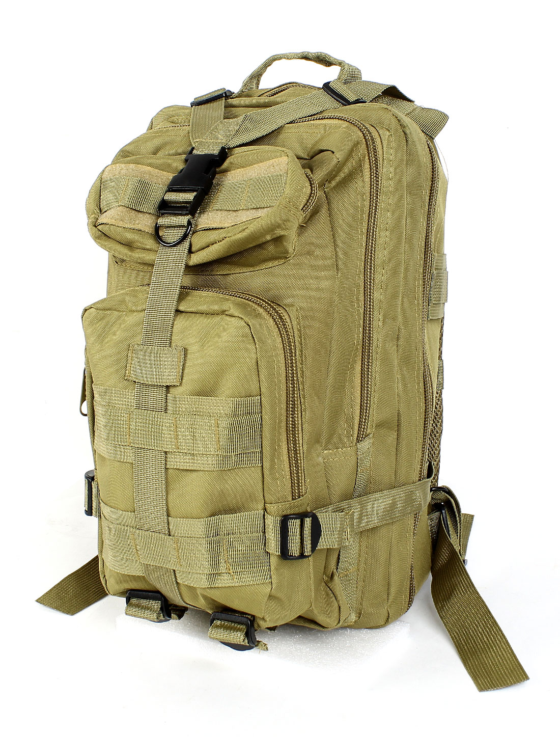 Unisex Military Tactical Rucksack Oxford Cloth Bag Camping Backpack Army Green