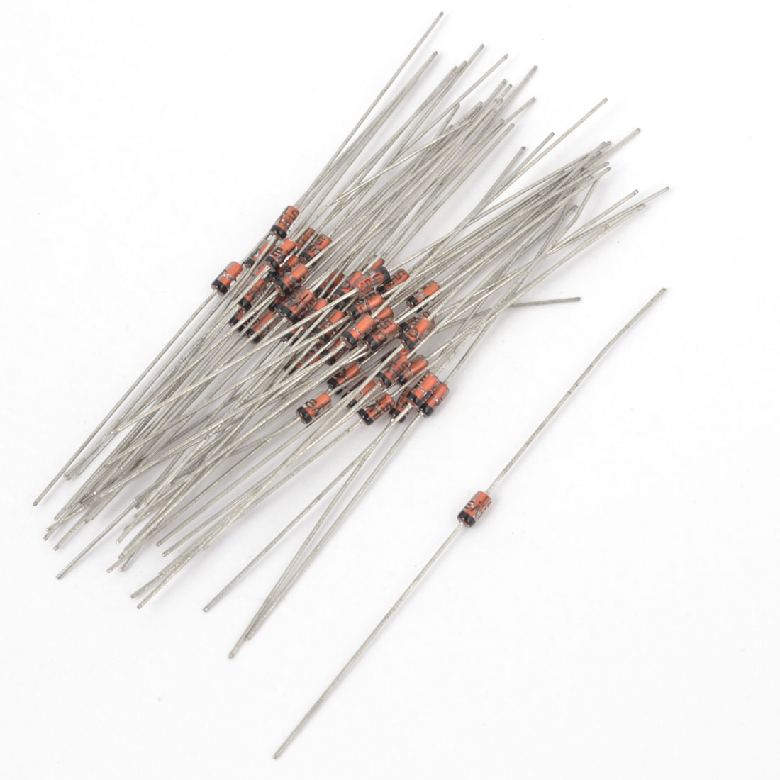 55Pcs Axial Leads 1N5229 4.3V 1/2W 0.5 Watt Glass Sealed Case Silicon Planar Power Zener Diodes