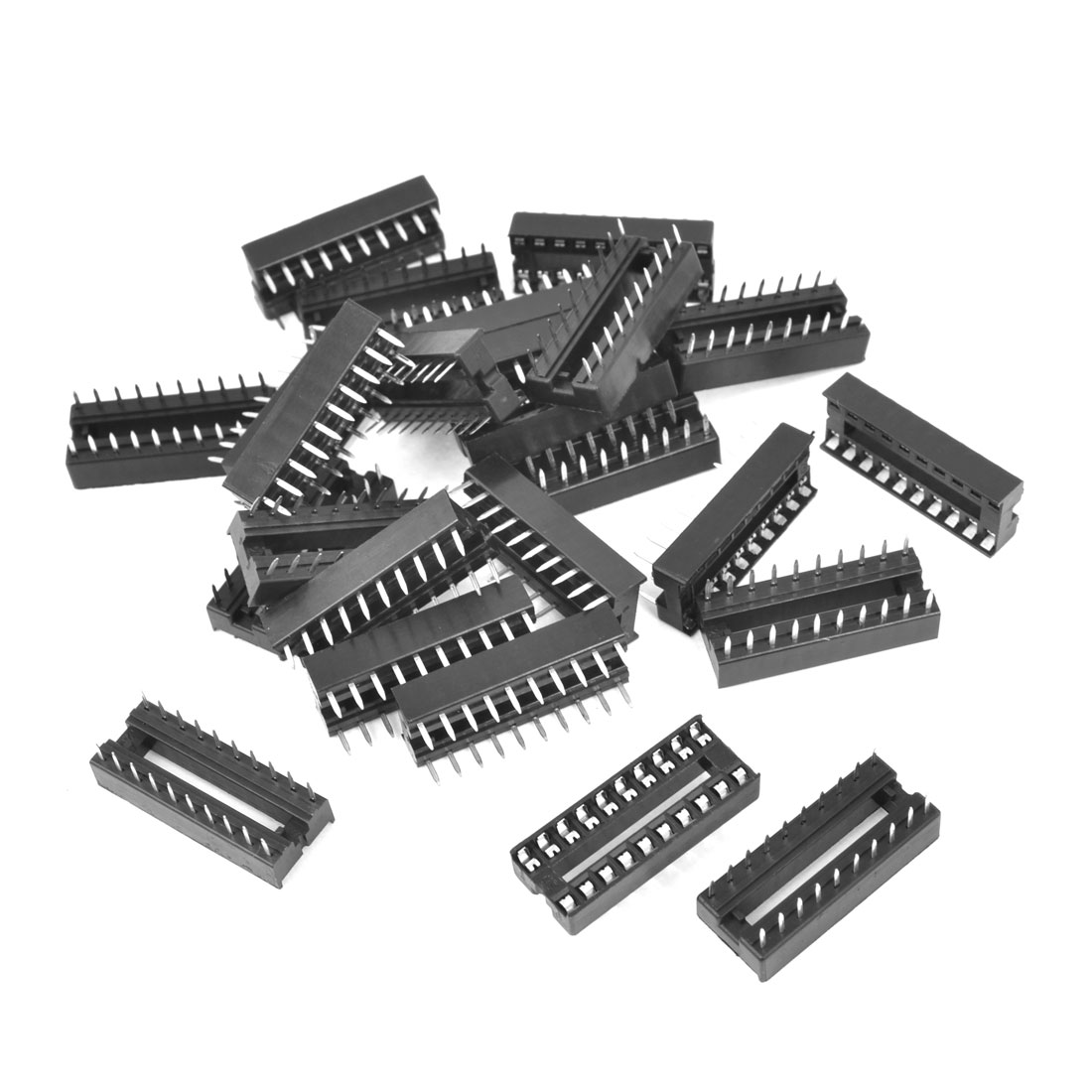 25 Pieces 2.54mm Pitch 20 Pins Double Row DIP IC Socket Adapter Solder