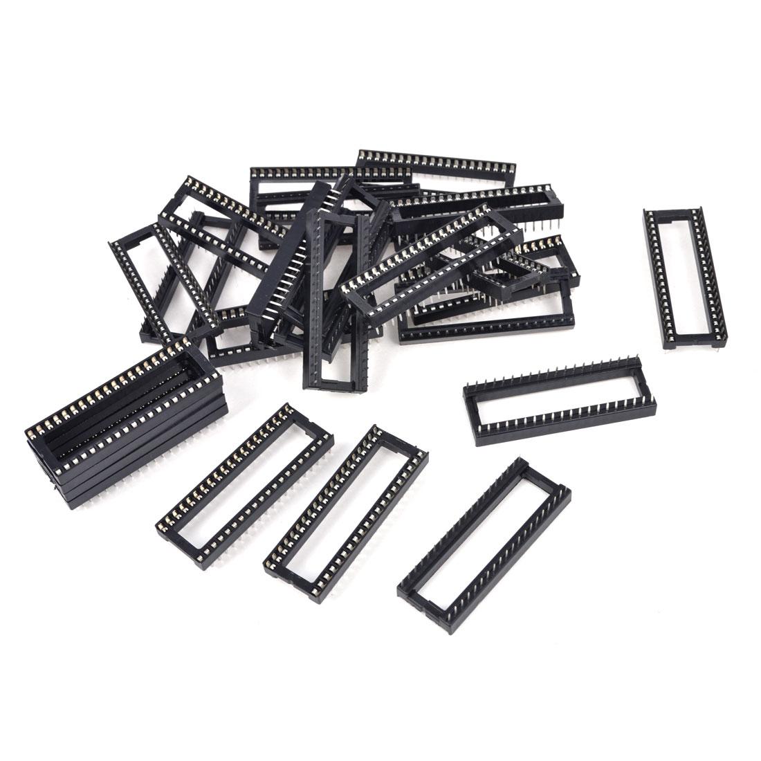 25 Pcs 2.54mm PCB Board 2 Row 40-Pin DIP Solder Type IC Socket Adapter