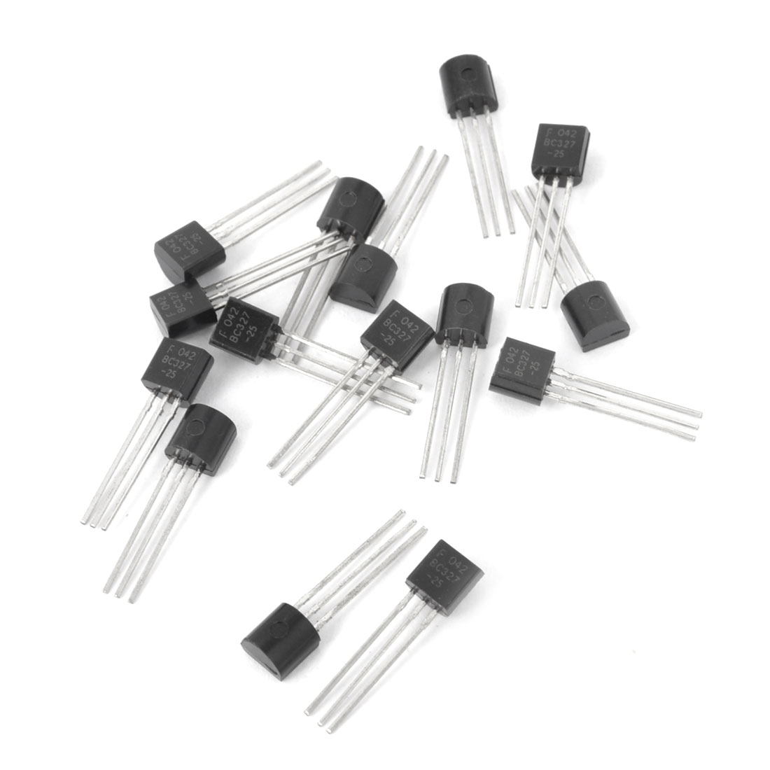 15Pcs TO-92 BC327-25 Tin Leads Small Single PNP Silicon Transistors 50V 0.5A 0.625W